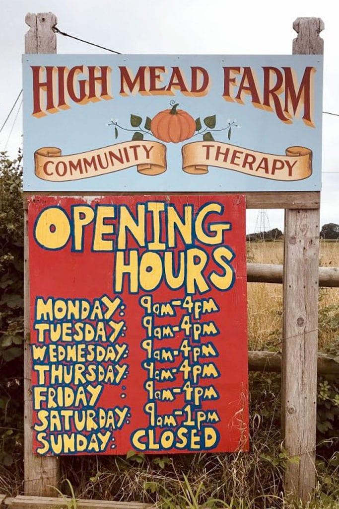 High Mead Farm Community Therapy Opening Times V2